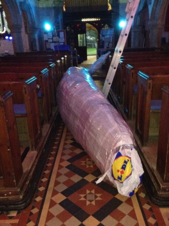 The mother whale arrives in Stithians Church