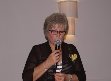 Chairman Peggy delivers her speech